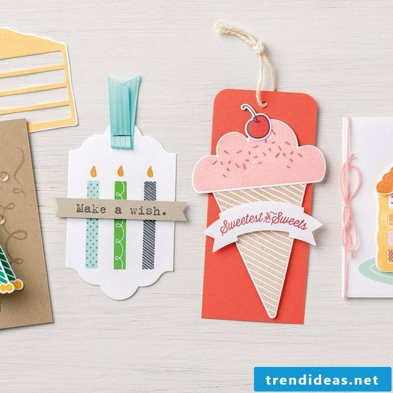 Make a birthday card yourself - Washi Tape