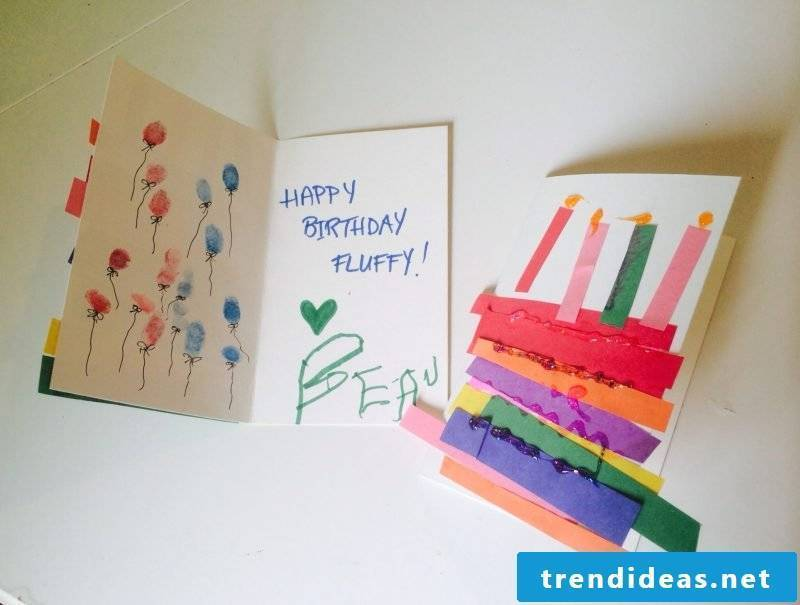 Make birthday card yourself