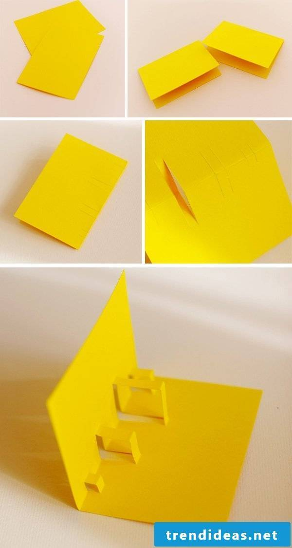 Folded card tinkering instructions