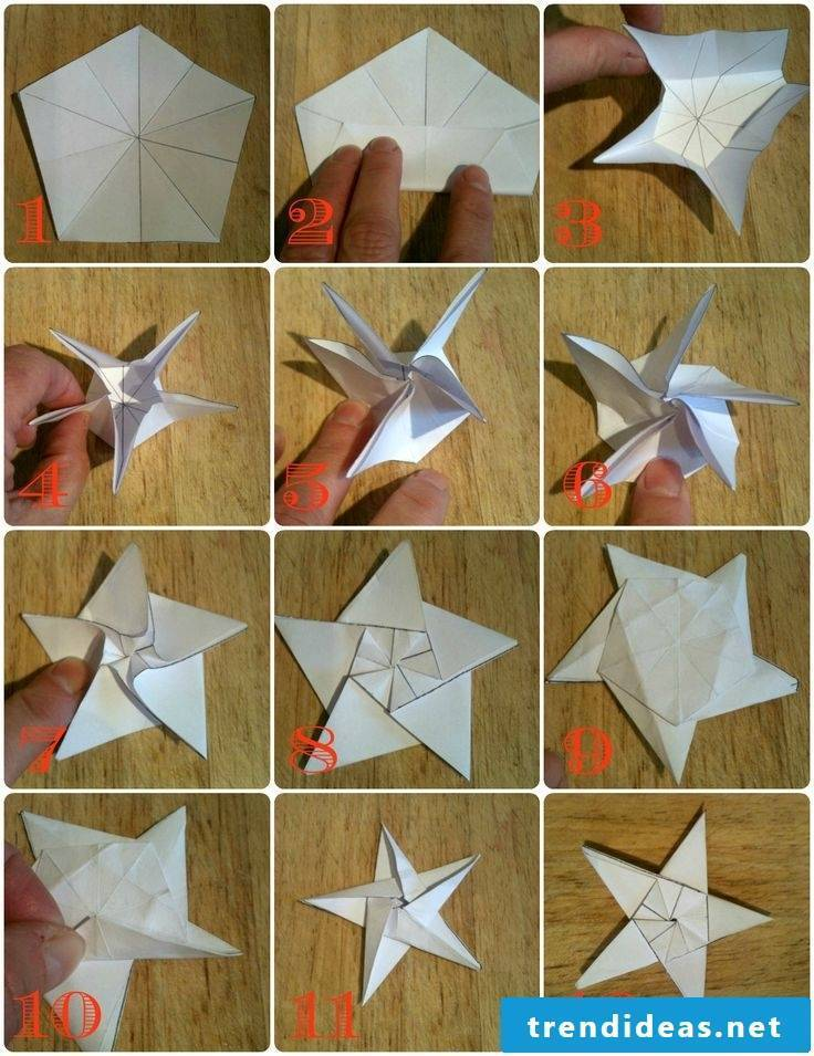 Folding Christmas stars - instructions