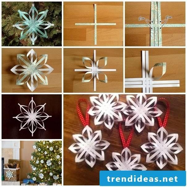 Make Christmas stars - a great children's activity