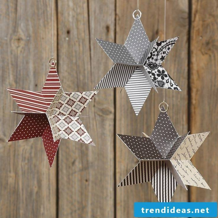 Great idea for 3D Christmas stars tinker