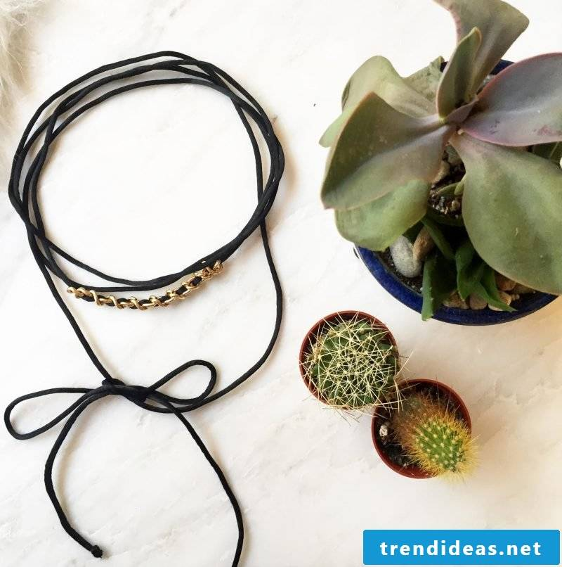 Choker necklace make yourself - what types are there?