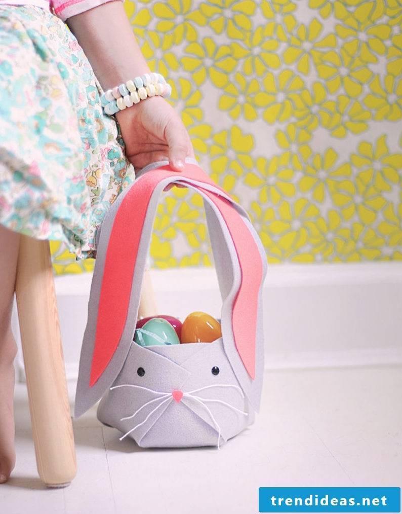 Easter baskets make felt
