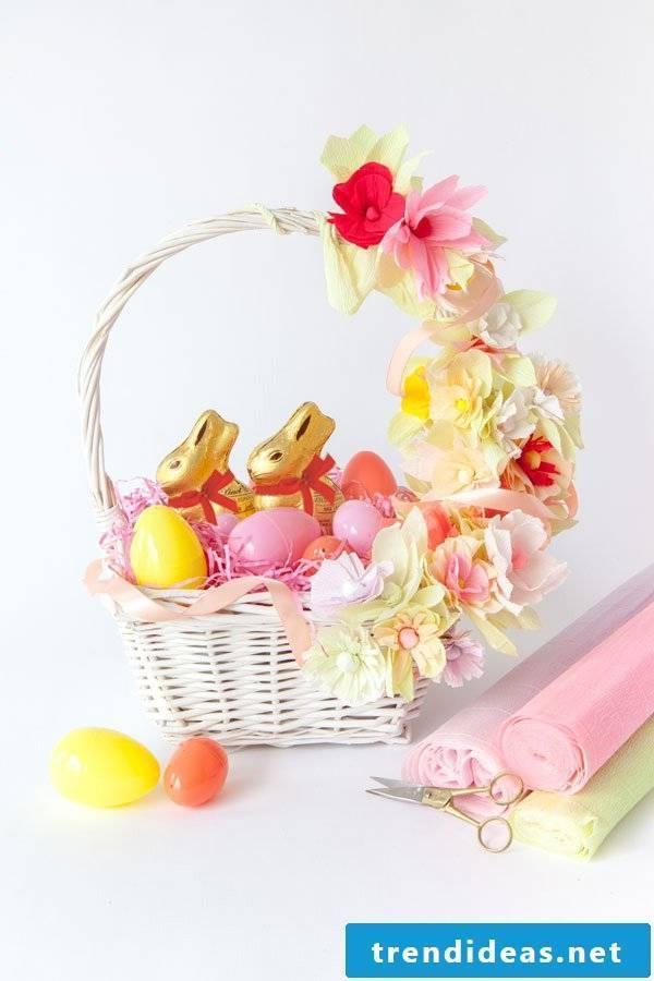 Easter baskets make flowers