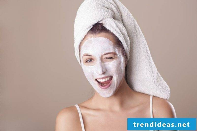 Facemask itself make recipe with Quark combination skin