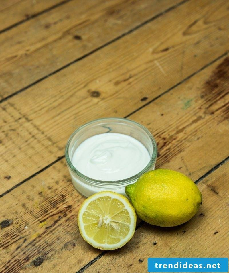 Make mousse lemon juice quark combination skin