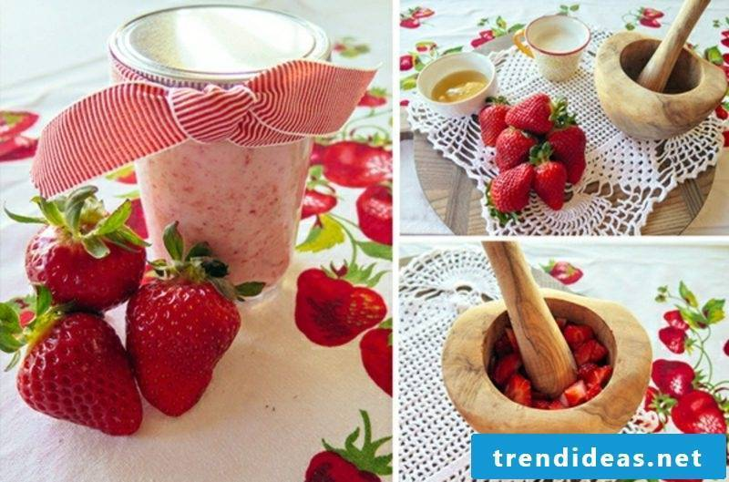 Face masks themselves make a refreshing mask with strawberries for oily skin