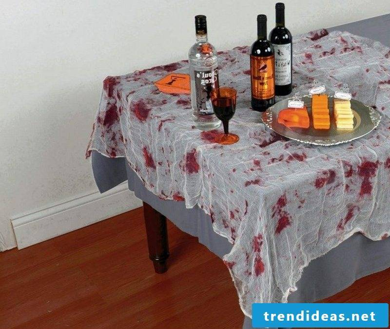 Halloween decorative tablecloth fake bloodstains