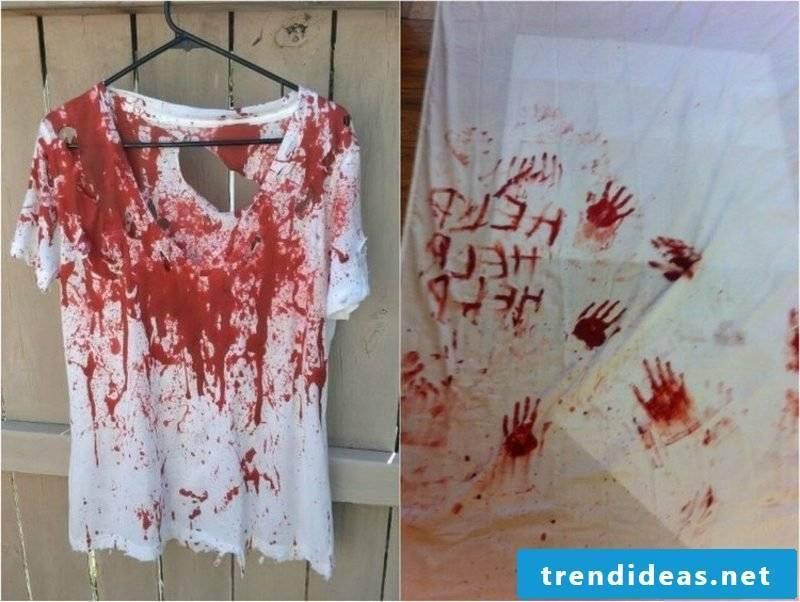 Artificial Blood Deco Ideas Halloween