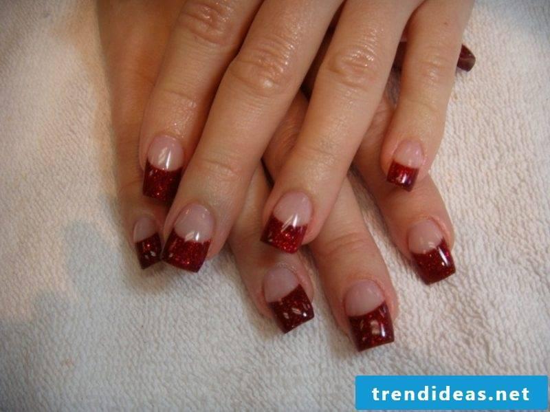 Nail art Tips French Nails Gellack Red