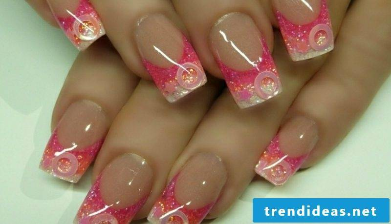 Nail art tips French nails Gellack gorgeous look