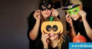 Make Halloween Mask: 20 stencils for printing