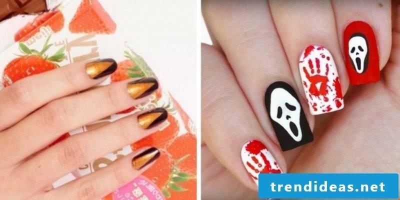 Halloween nails decorations