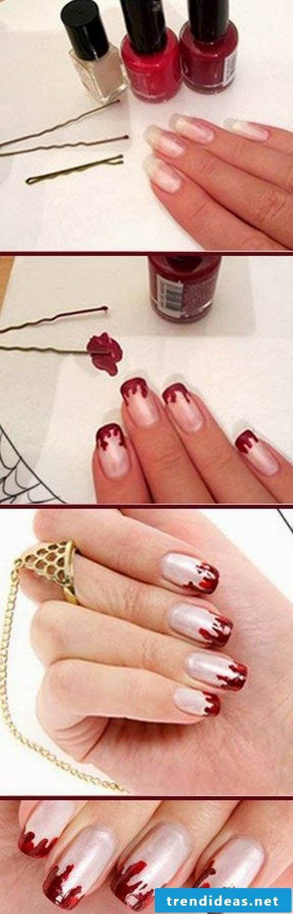 Halloween Nails DIY Instructions