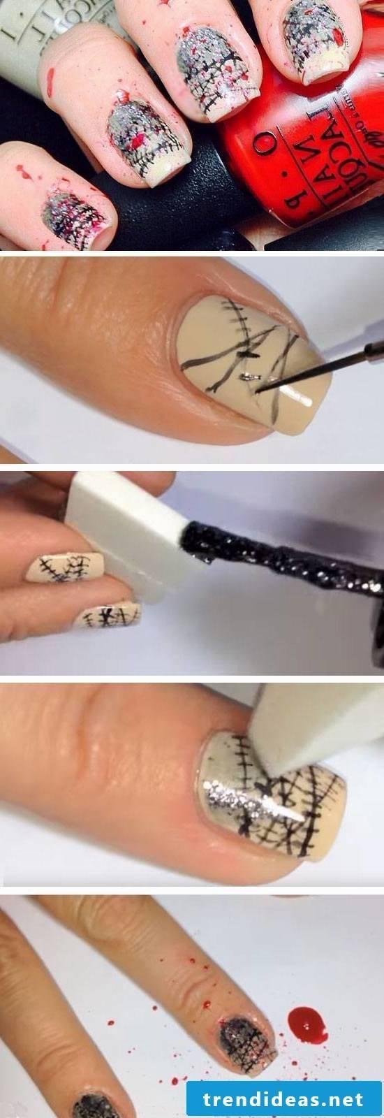 Halloween nails instructions