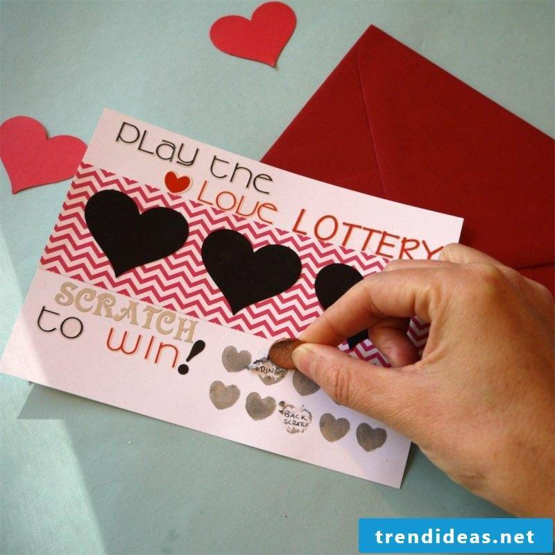 Valentine's Day Gifts Make Yourself Scratch Card Crafting Instructions