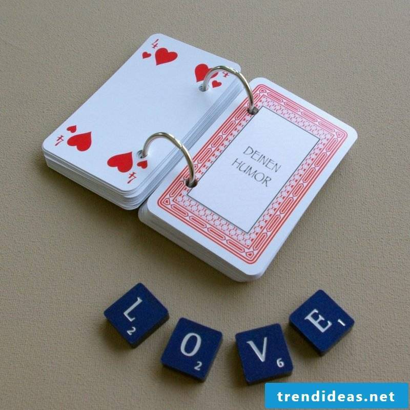 Valentine's Day Gifts make your own original playing cards romantic