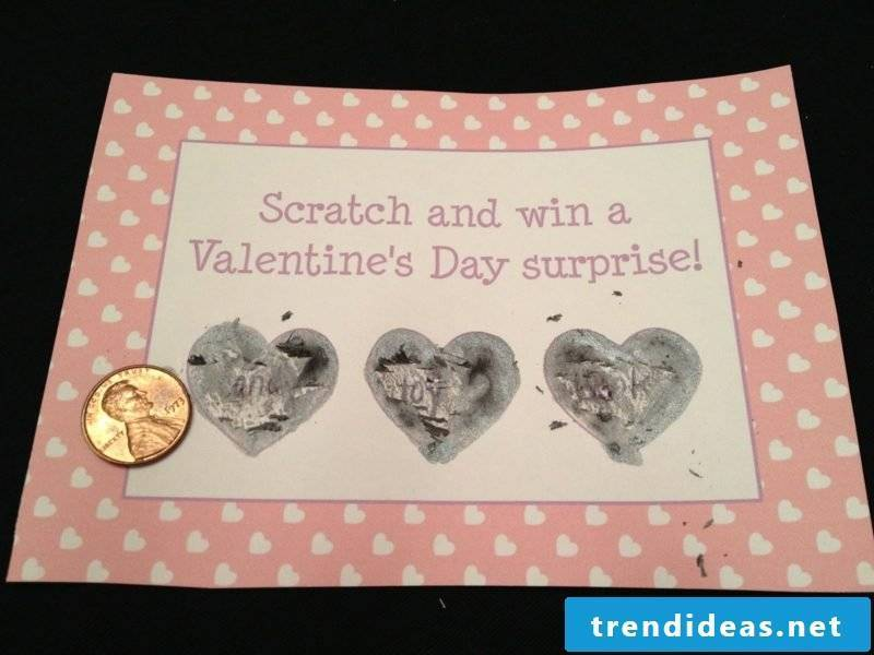 Make Valentines Day Gifts Scratch Card