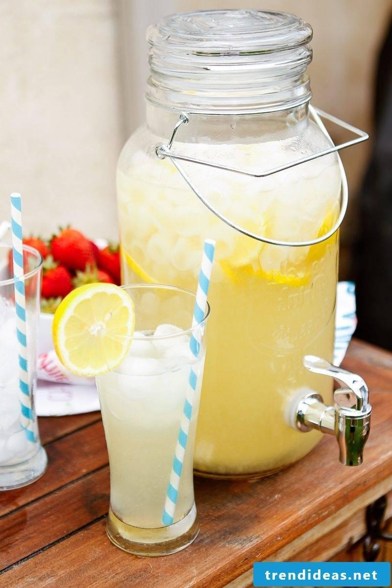 Make lemonade yourself - ideas and recipes