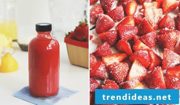 Make strawberries lemonade yourself - recipe