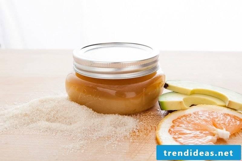 Make your own shower gel - Grapefruit avocado peeling