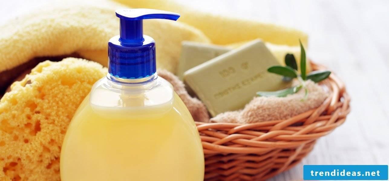 Make shower gel yourself - recipe