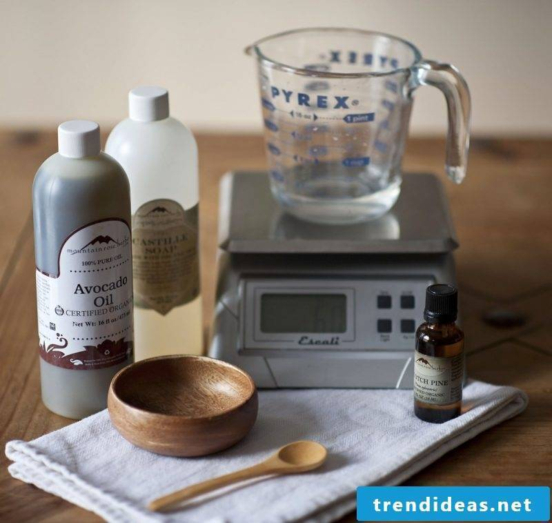 Shower gel itself make DIY instructions