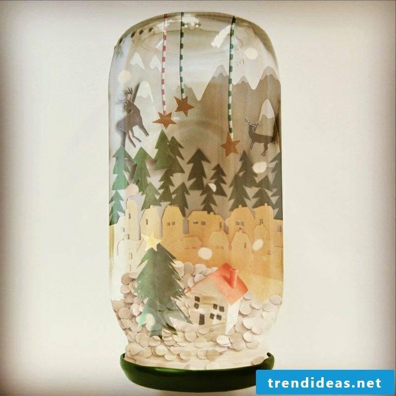 Make snow globe yourself