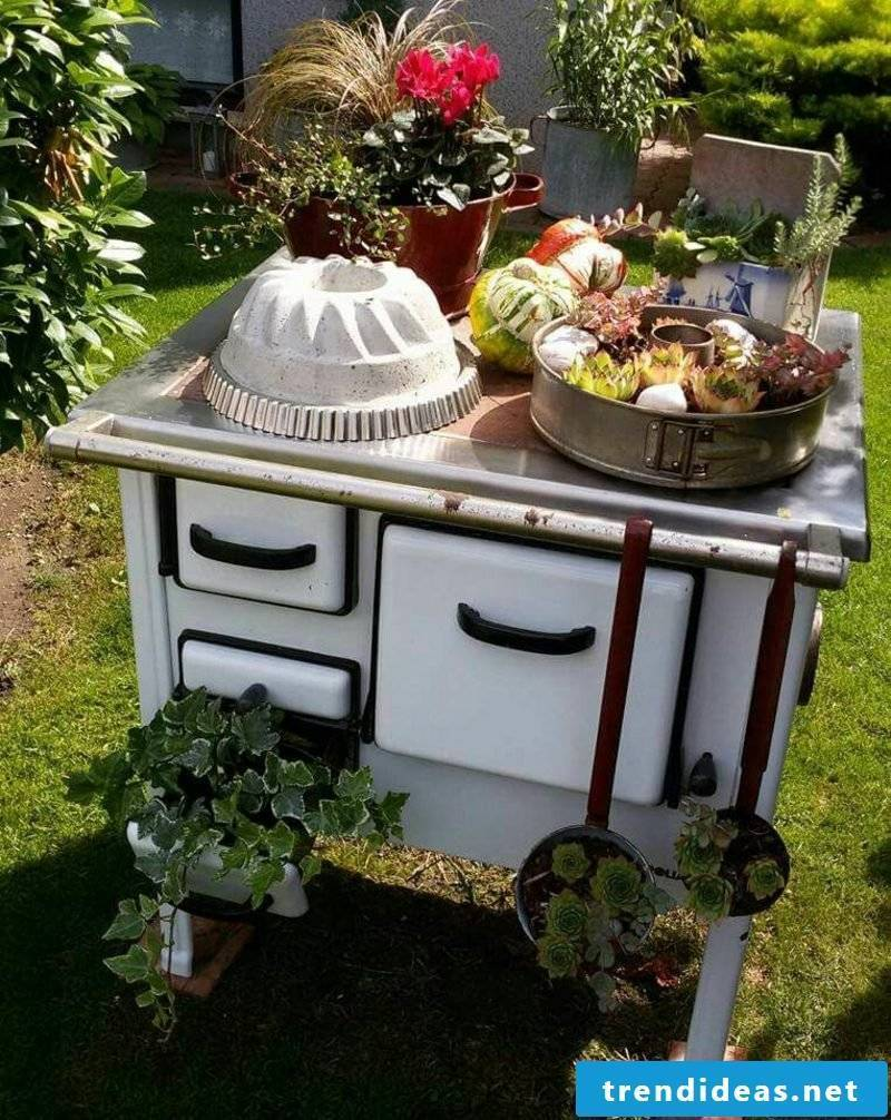 Fancy garden decoration make your own stove