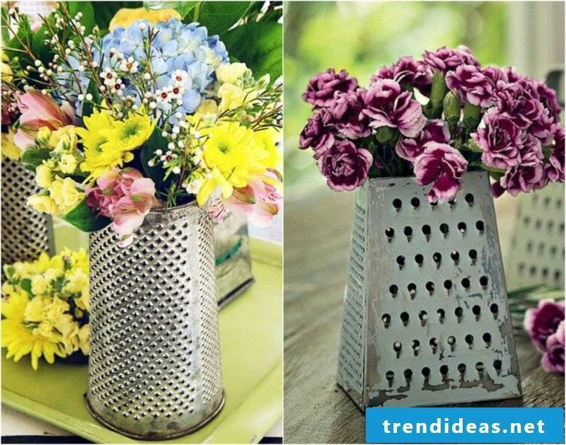 Fancy garden decoration itself make a vase of grater