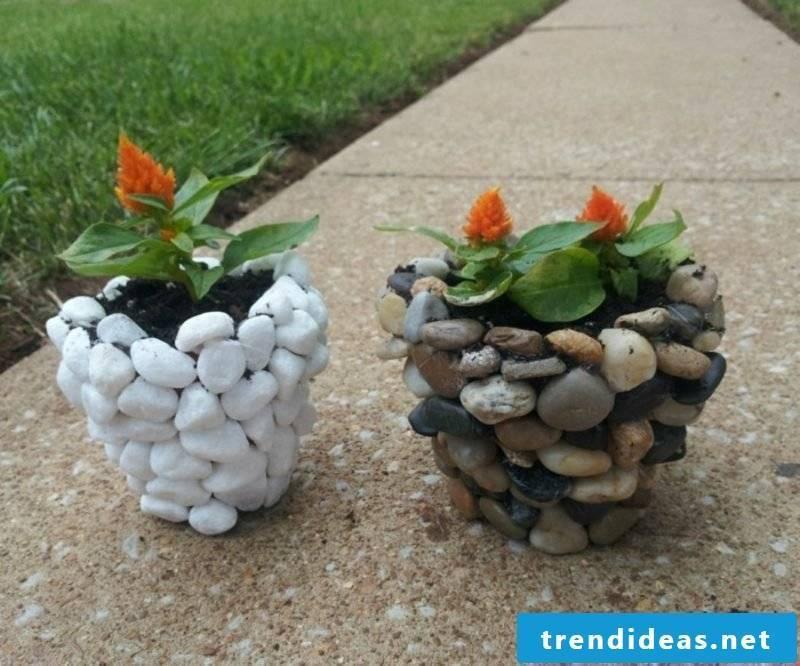 Make unusual garden decoration yourself decorate flower pot