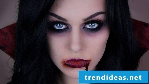 Halloween costume vampire matching make-up