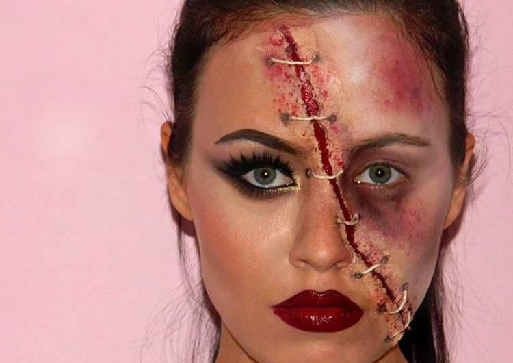 Skull make-up Halloween instruction