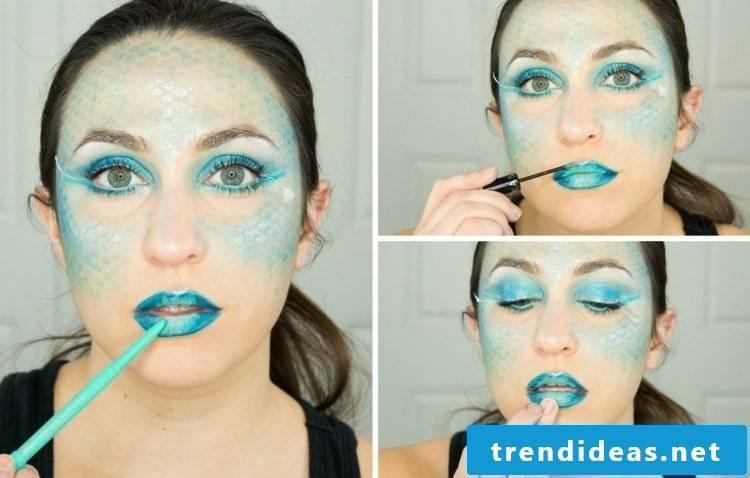 Face painting mermaid halloween