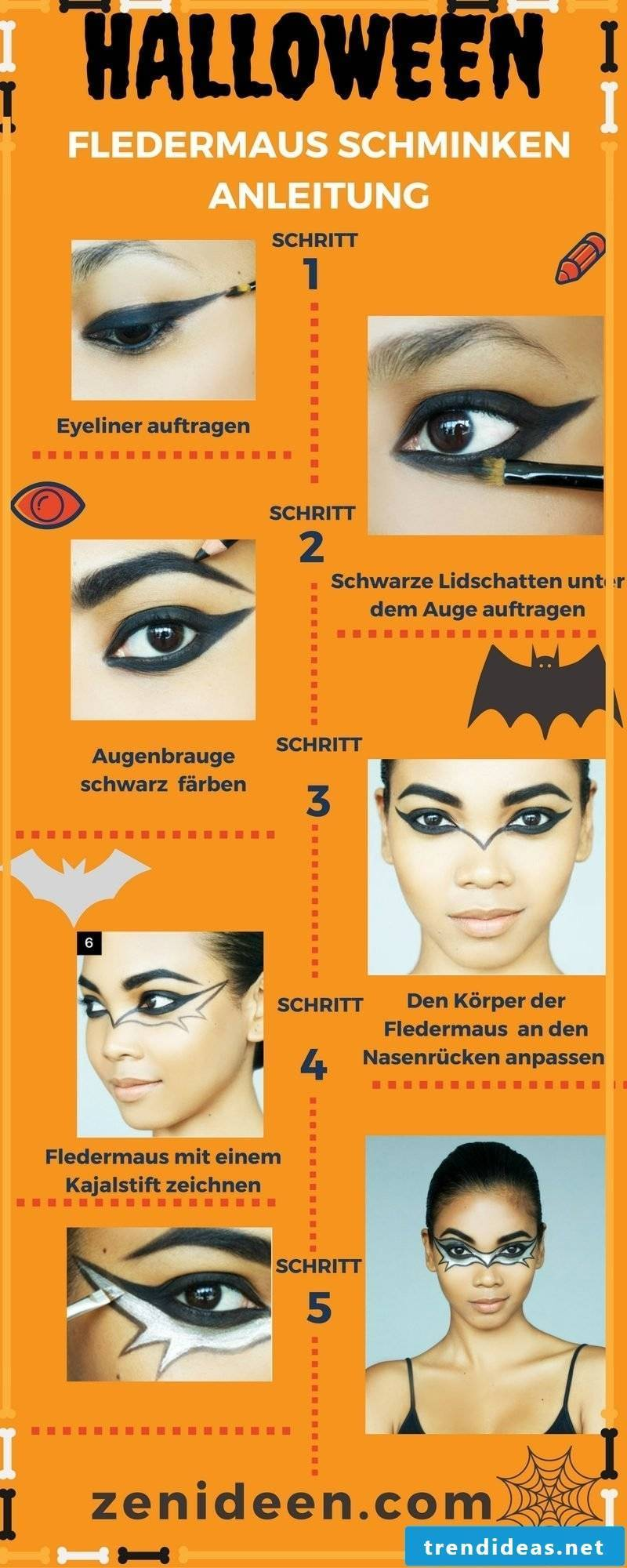 Make Up Of A Bat Step By Step Instructions