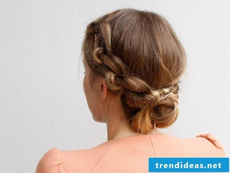 Festive Hairstyles Knotted Updo Hairstyle