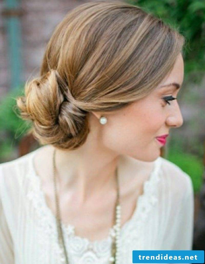 long hair hairstyles chignon