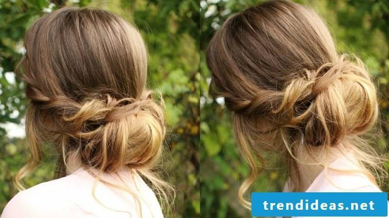 Hairstyles long hair Chignon