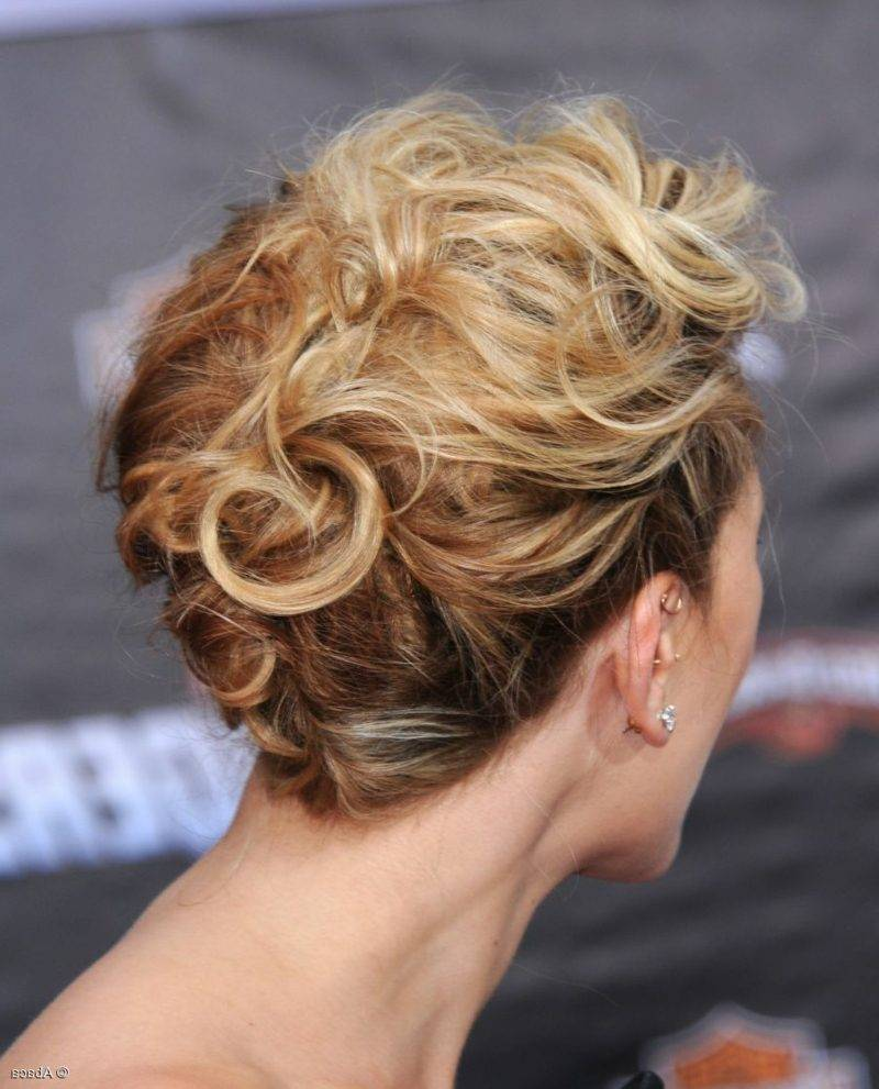 Updos with curls short hair