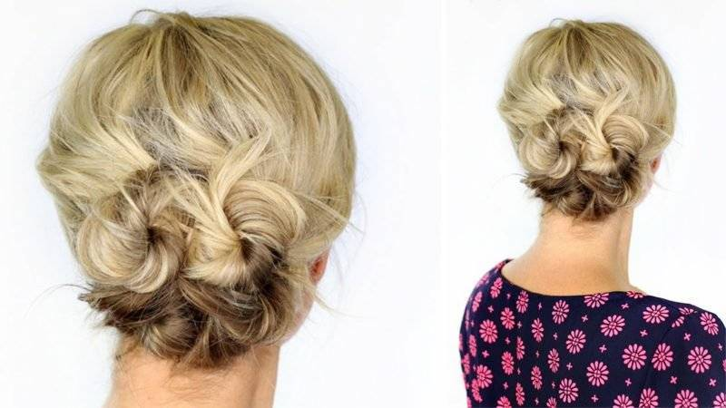 Make up hairstyles yourself – Knotted Updo hairstyle for short hair. simple updos guide