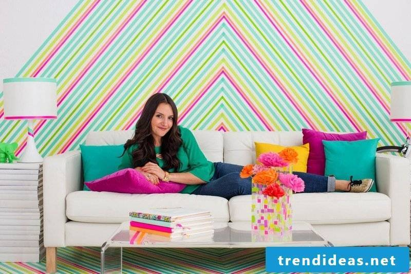 walls shape wall design ideas washi tape