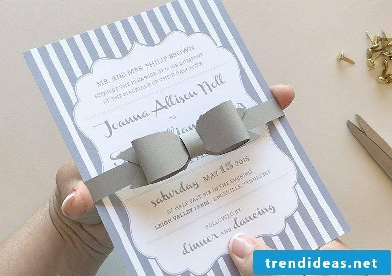 Make wedding card: DIY ideas for a unique stationery | Best Trend ideas