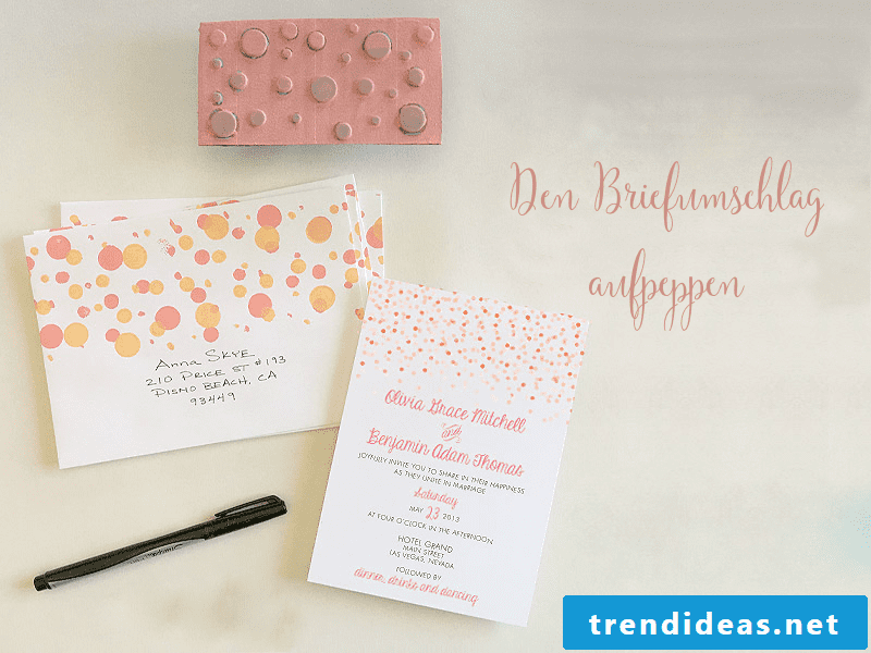 Instructions №3: Make a dotted envelope for the wedding card