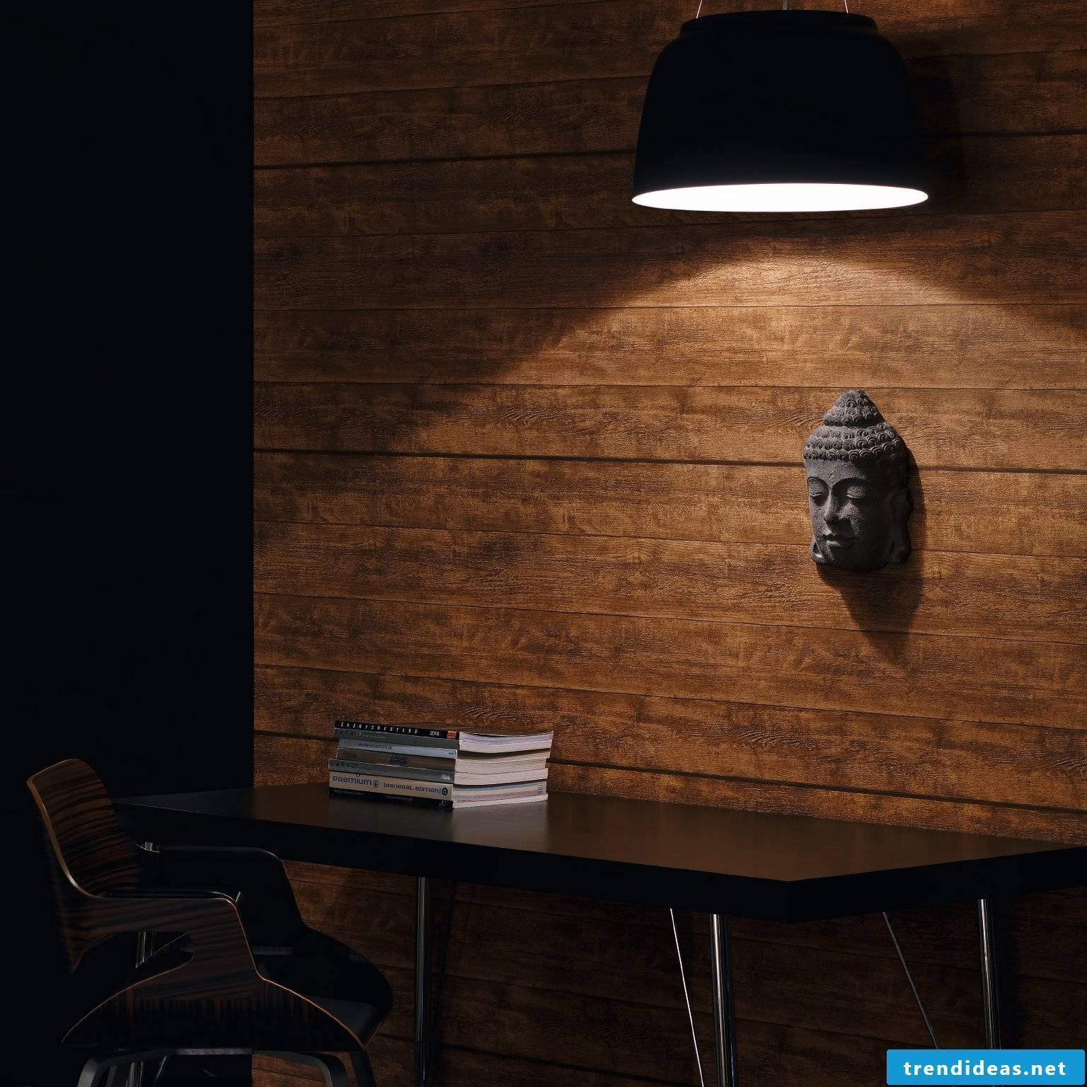 Wallpaper wood look in rustic