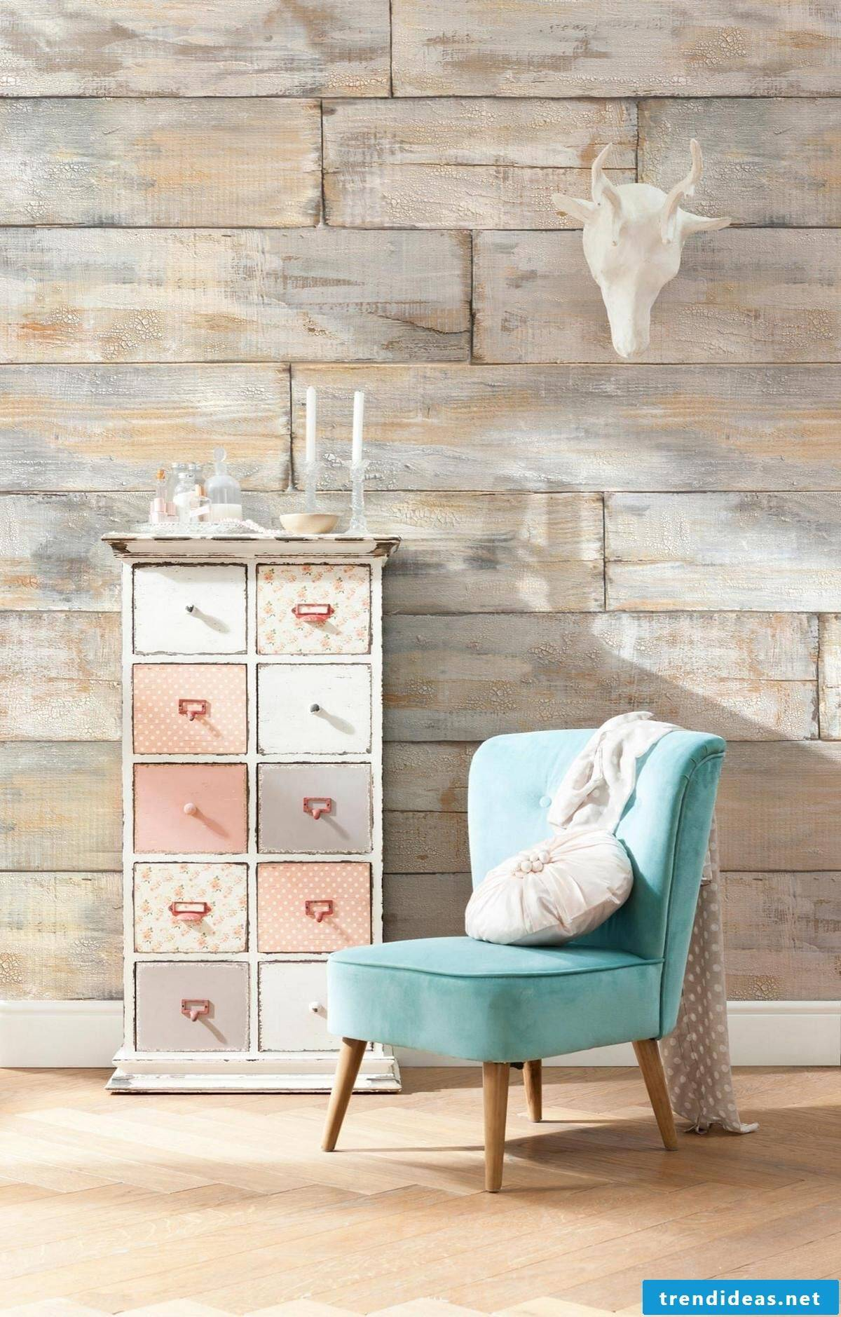 Wood look Shabby Chic style