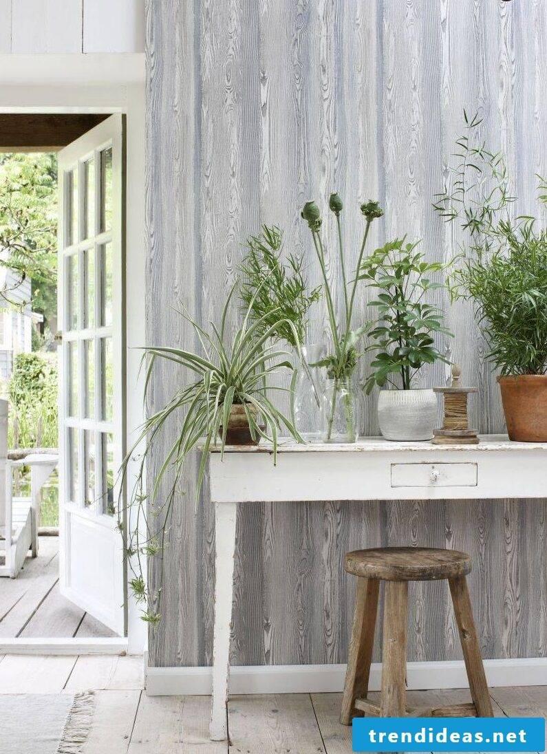 Holztapete Grau - interior design ideas