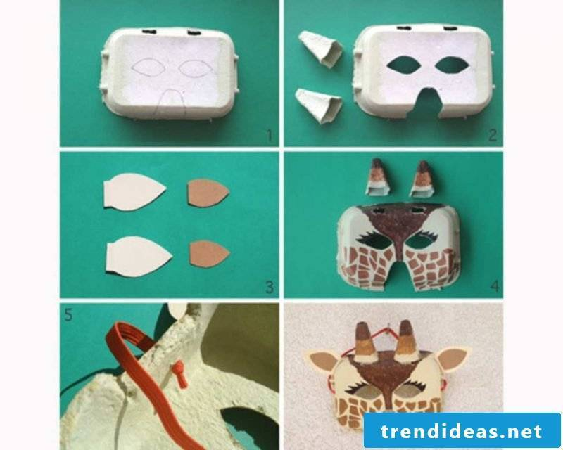 Animal masks DIY DIY instruction easy