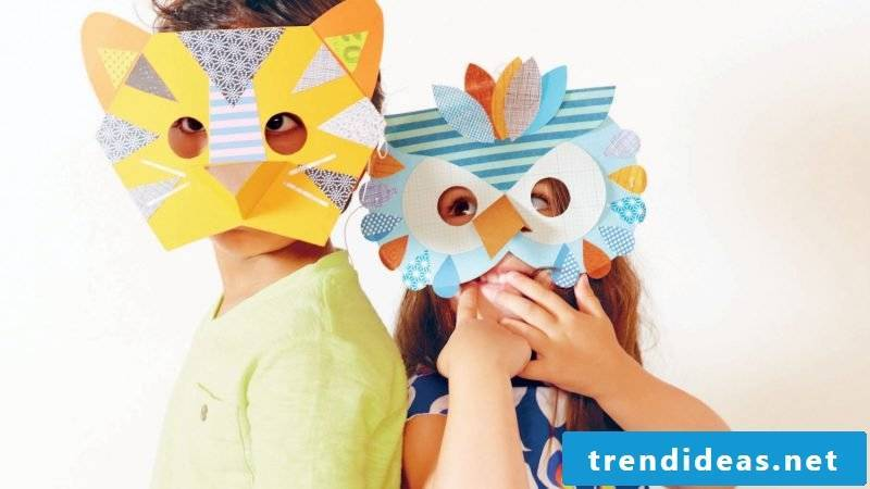 making colorful animal masks brings fun