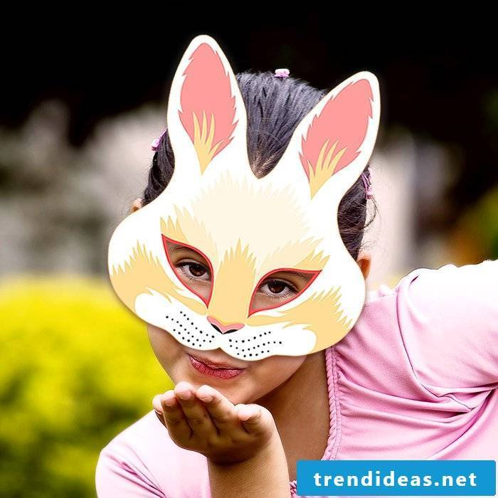 animal masks tinker in the form of a sweet rabbit